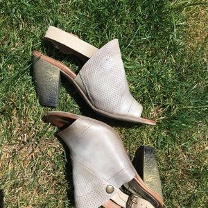118814e7126 Miz Mooz Shoes - Miz Mooz Grey Verona Collection Leather Slingbacks